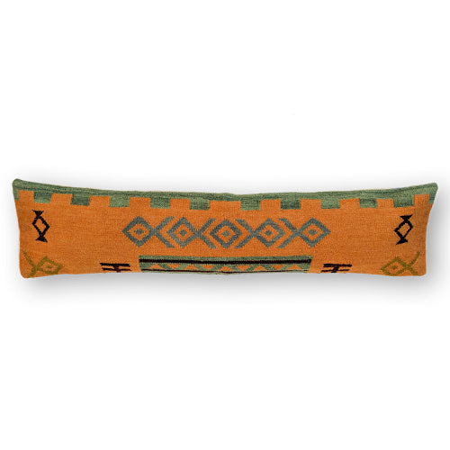 ORANGE BOHEMIA KILIM LUMBAR PILLOW