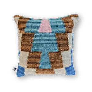 BROWN BOHO KILIM PILLOW
