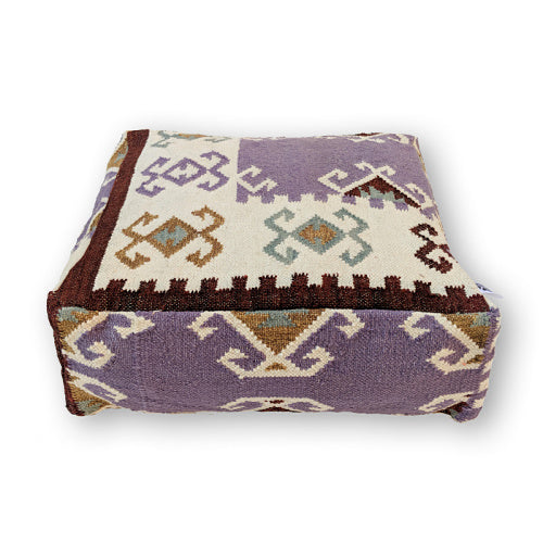PURPLE FABULOUS KILIM POUF