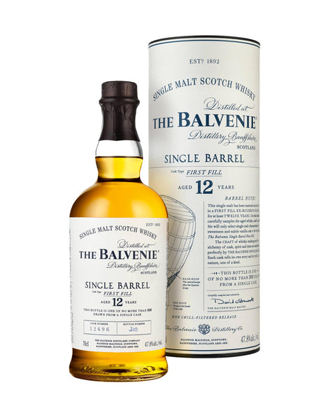 Single Malt Whiskey Balvenie 12 Year Old Single Barrel In Calgary, Alberta, Canada