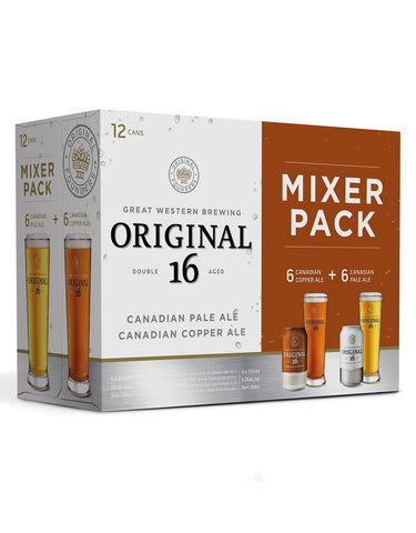Great Western Original 16 Mixer Pack - 12 Cans