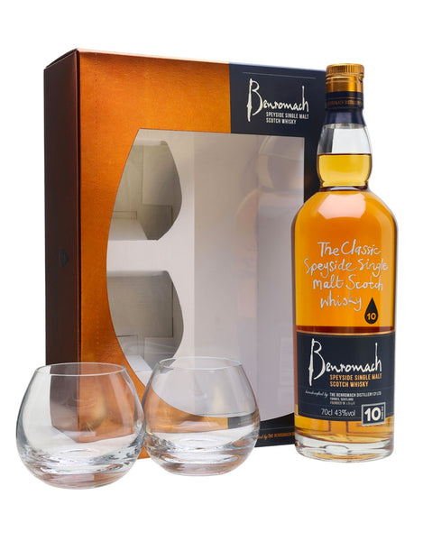 Single Malt Whiskey Benromach 10 Year Old  - Gift Pack (2 Glasses) In Calgary, Alberta, Canada