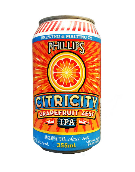 Phillips Citricity Grapefruit IPA - 6 Cans
