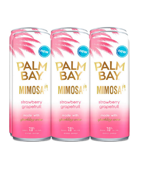 Palm Bay Mimosa Strawberry Grapefruit - 6 Pack Cans