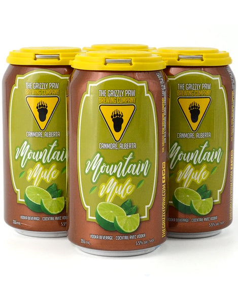 Grizzly Paw Mountain Mule 355 ml - 4 Cans