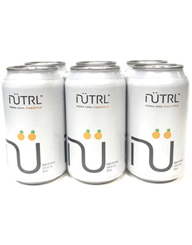 Nutrl Pineapple Vodka Soda 355 ml - 6 Cans