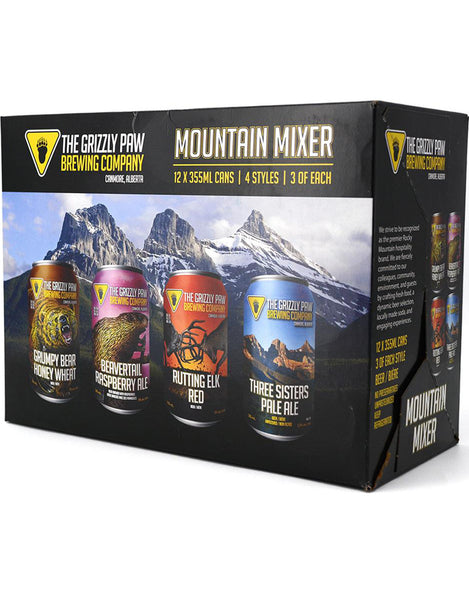 Grizzly Paw Mountain Mixer 355 ml - 12 Cans