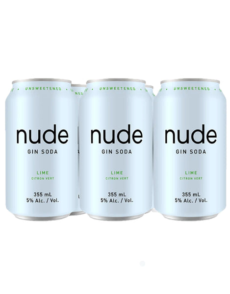 Nude Gin Soda Lime 355 ml - 6 Cans