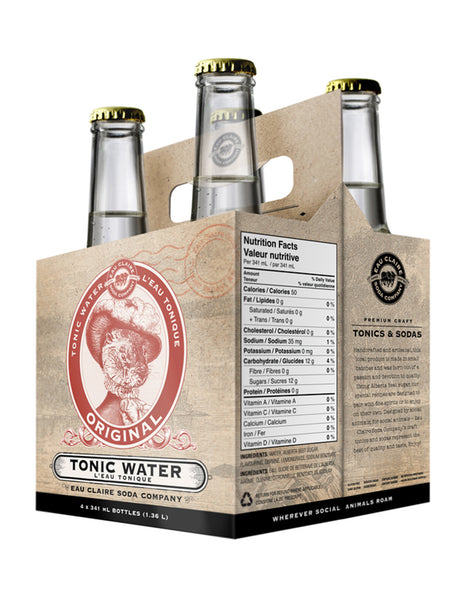 Eau Claire Tonic Water 355 ml - 4 Cans
