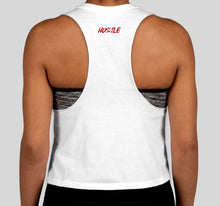 Load image into Gallery viewer, White Crop Top Ladies Tank - Tiger's Blood