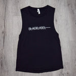 Ladies Black Label Grind Hustle Win Repeat Muscle Tank