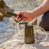 Survivor Filter PRO - Virus and Heavy Metal Tested 0.01 Micron Water Filter for Camping, Hiking, and Emergency. 3 Stages - 2 Cleanable 100,000L Membranes and a Carbon Filter for Family Preparedness