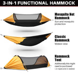 ETROL Hammock, Upgrade Camping Hammock with Mosquito Net and Tree Straps, 3 in 1 Function Design Aluminium Portable Hammock Tent for Indoor, Outdoor, Hiking, Camping, Backpacking, Travel, Backyard