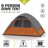 CORE 6 Person Dome Tent 11' x9'