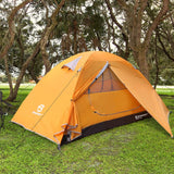 Bessport Camping Tent 2-Person Lightweight Backpacking Tent Waterproof Two Doors Easy Setup Tent for Outdoor, Hiking Mountaineering Travel (Orange)