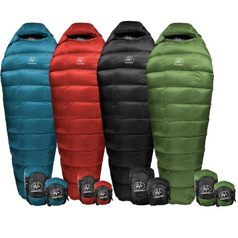 Outdoor Vitals Summit 0°F - 20°-30°F Down Sleeping Bag, 800 Fill Power, Mummy, Ultralight, Camping, Hiking