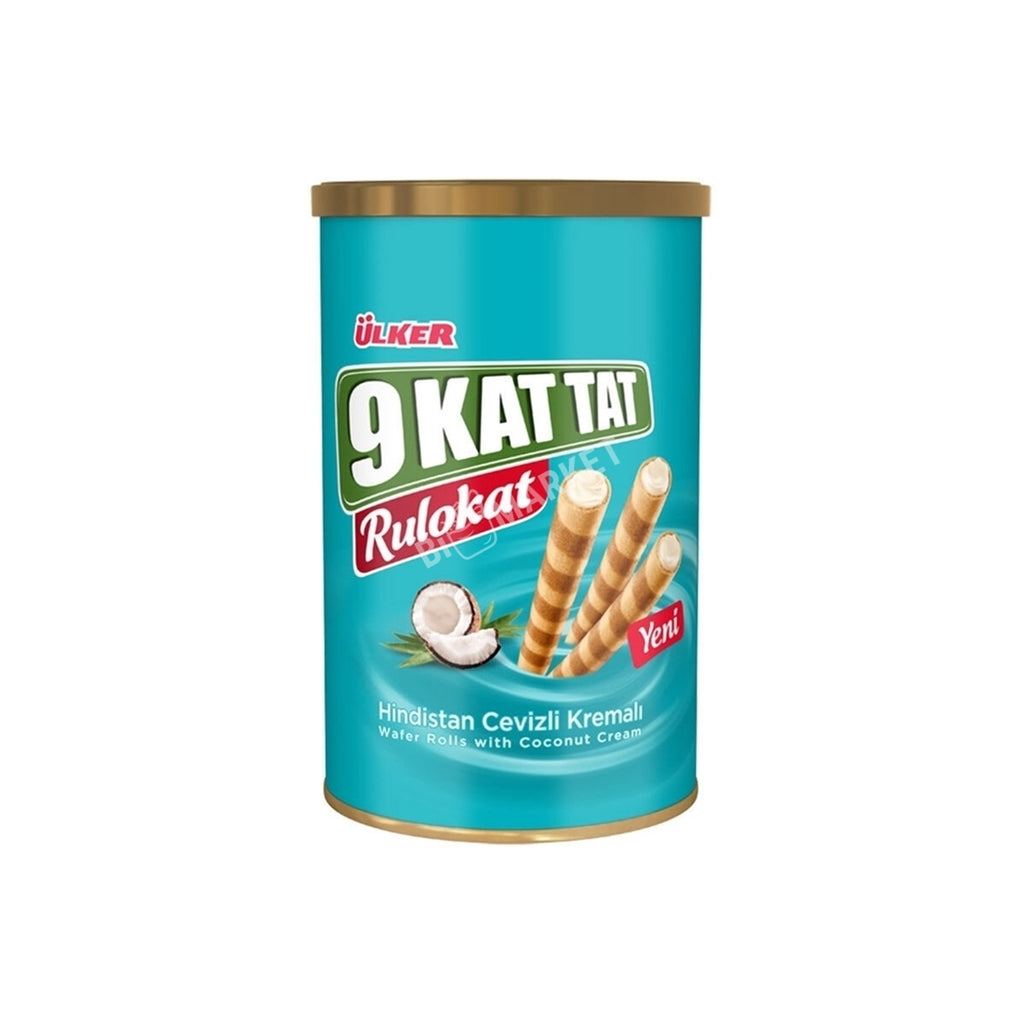 Ulker Rulokat Wafer Rolls with Coconut Cream (Tin)