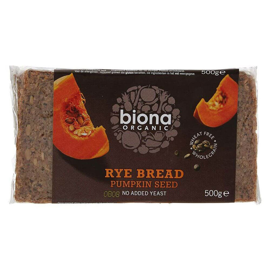 Biona Organic Rye and Pumpkin Seed Bread