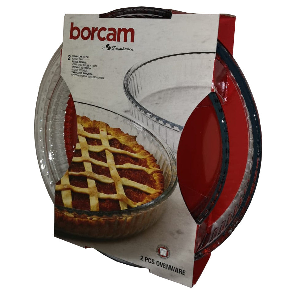 Borcam Glass Round Tray