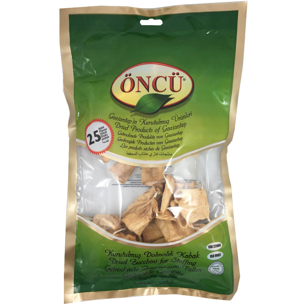 Oncu Dried Zucchini For Stuffing (Dolmalik Kabak)