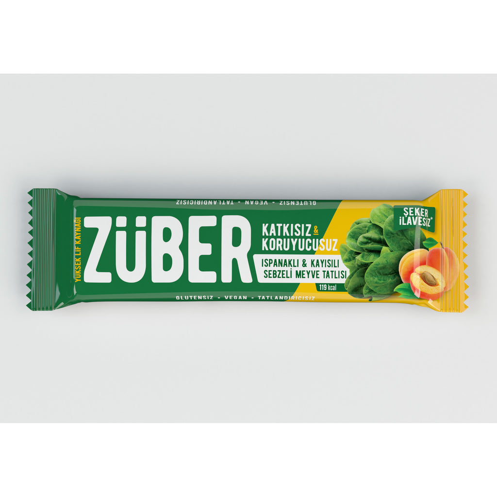 Zuber Spinach and Apricot Veggie Bar
