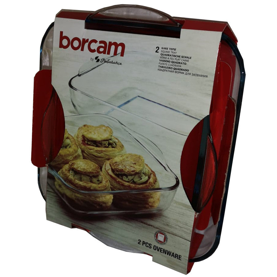 Borcam Glass Square Tray