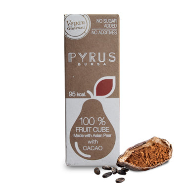 Pyrus Natural Pear Cube with Cacao Small