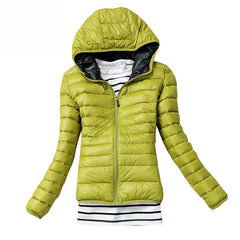 Winter Slim Hooded Cotton Jackets