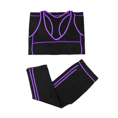 2 Pieces Yoga Set Crop Top Shirts + Skinny Legging