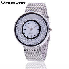 Stainless Steel Rhinestone Watches