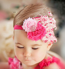 Feather Flower Baby Hair Band