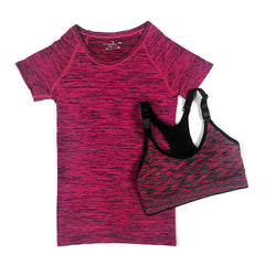 Women Quick Dry Yoga Set- T-shirt+Bra Set
