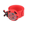 Red  Flap Ring Digital Slap Watch