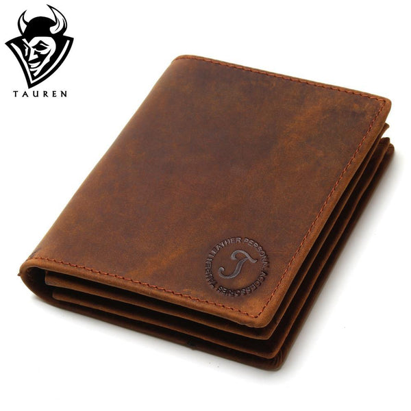 Vintage Handmade Multi-Functional Leather Men Wallets