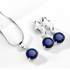 New Silver Color Jewelry Set