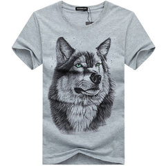 Wolf Printed Cotton T-Shirt