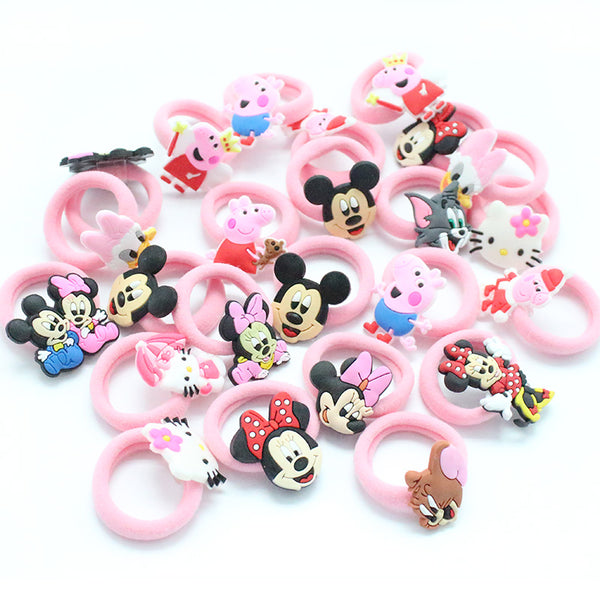 10PCS/Lot Fashion Kids Rubber Headbands