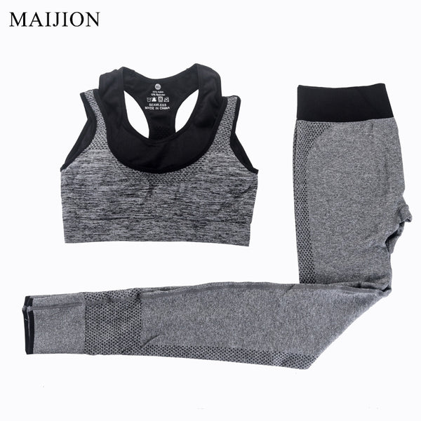 2Pcs Women Yoga Sets Bra+Yoga Pants