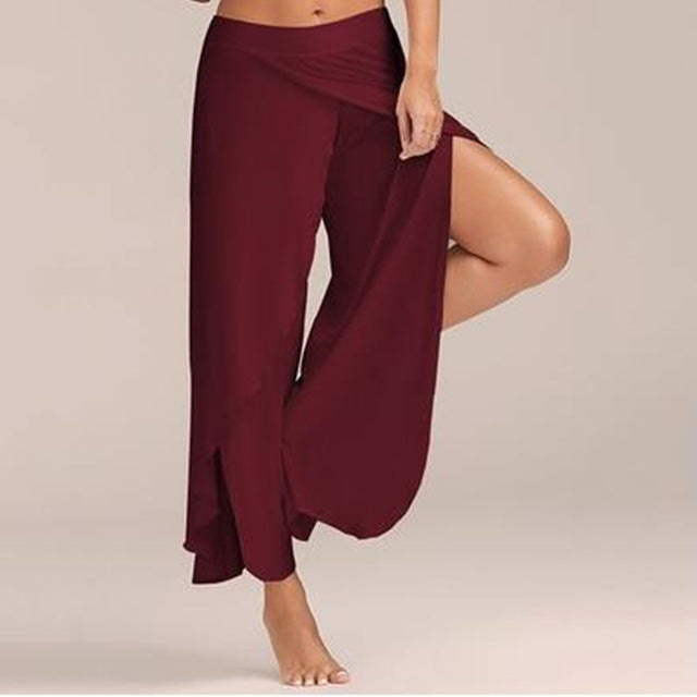Chiffon Irregular Side Loose Capris