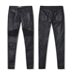 Faux Leather Zipper Pants