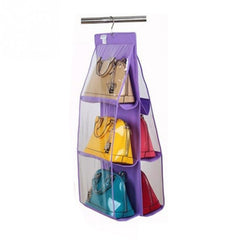 6 pocket Foldable hanging handbag organizer