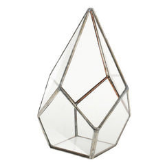 4 Size Air Planter Tabletop Succulent Diamond Glass Geometric Terrarium Box Moss Fern Flower Pot Garden Home Decoration Gift
