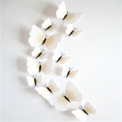 12 Pcs/Lot PVC Butterfly 3D Wall Stickers