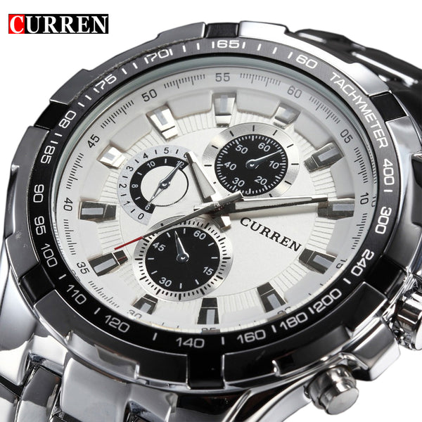 Luxury Full Stainless steel Men Business Watch
