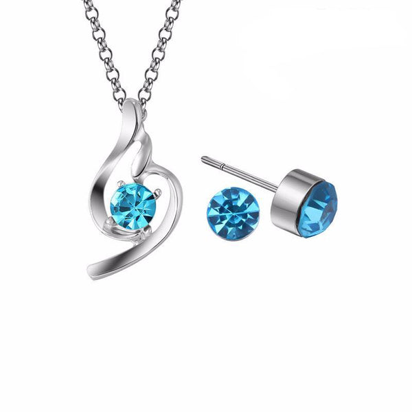 Fashion Sparkling Stone Jewelry Set