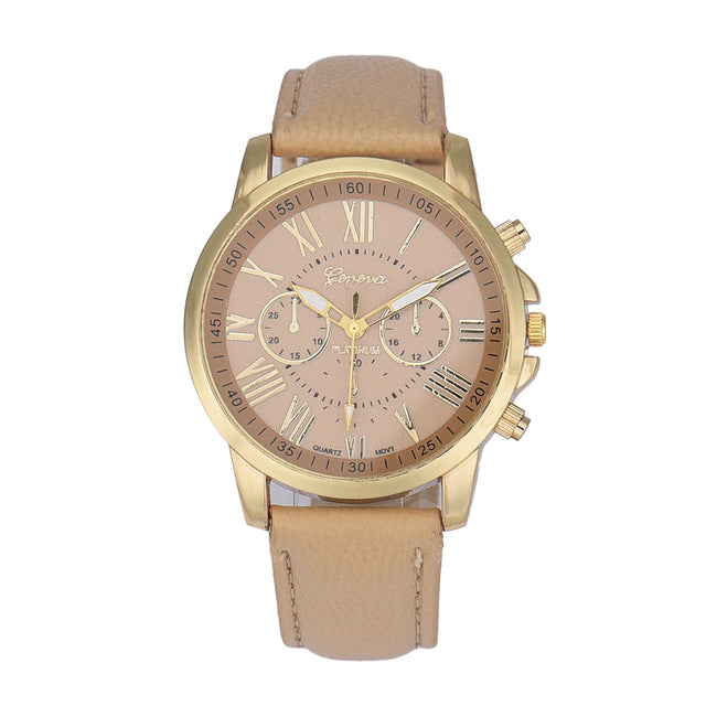 Luxury Leather Roman Numerals Watches