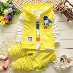 Winter Kids Clothes Coat+T-shirt+Pant 3pcs