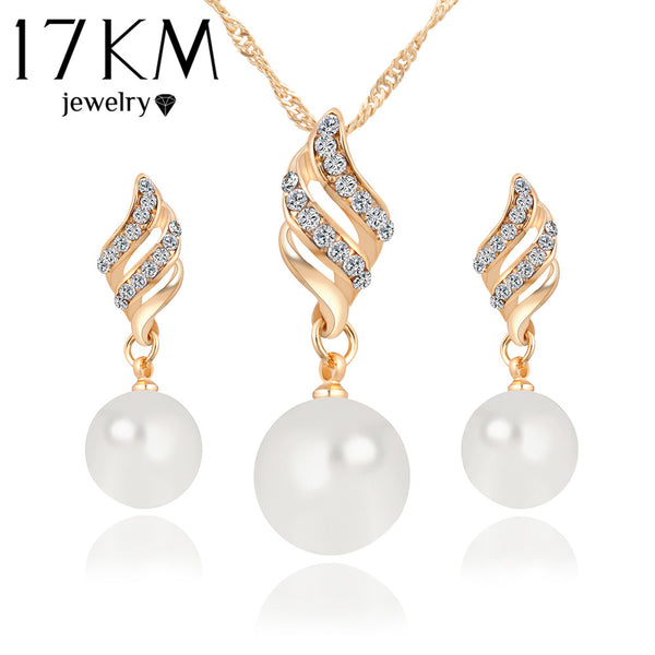 Fashion Big Simulated Pearl Jewelry Sets