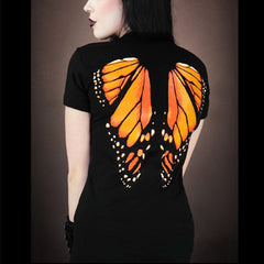 3D  Butterfly Wings Printed Women's T shirt