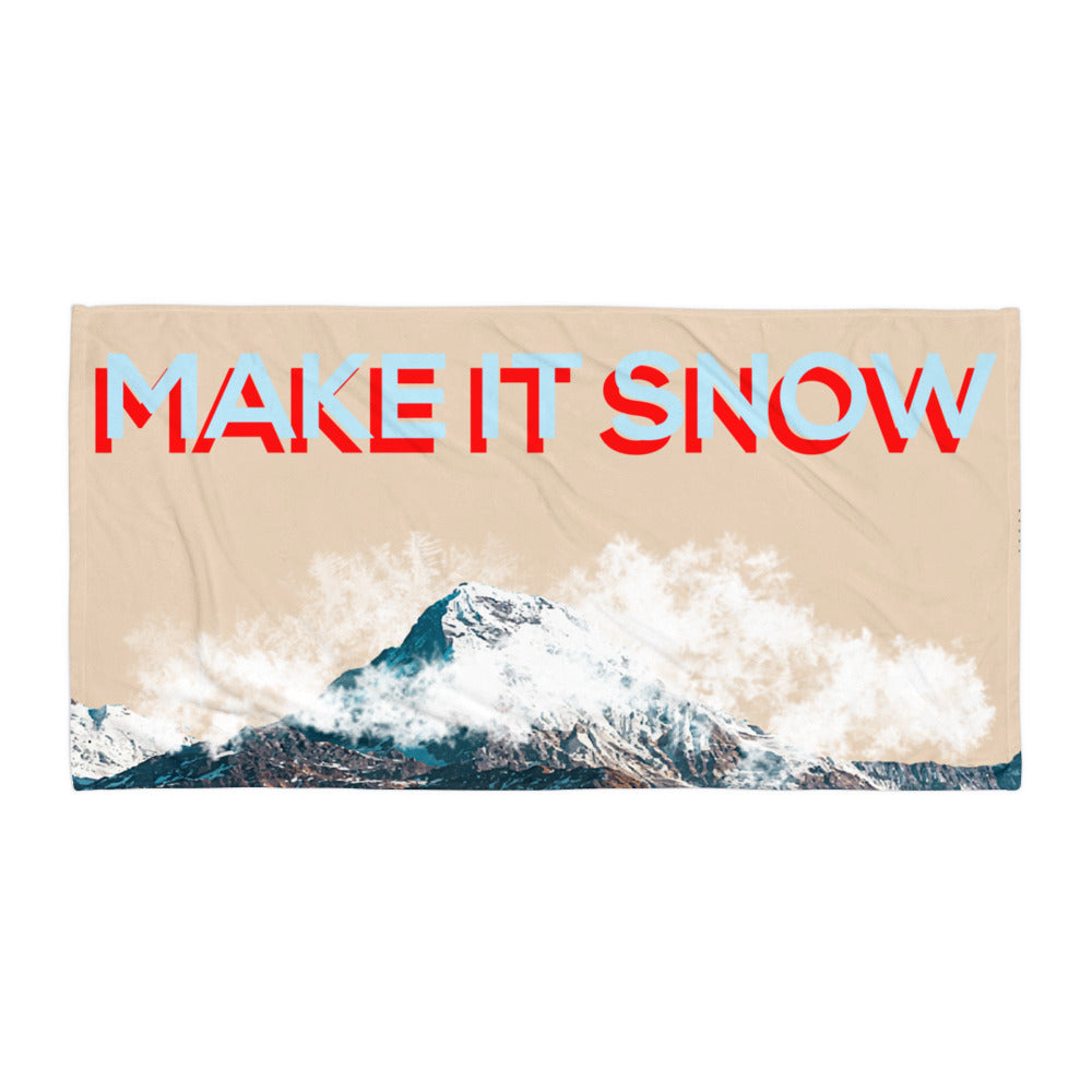 MAKE IT SNOW BEACH TOWEL